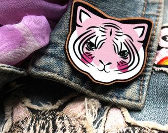Pink Tiger Brooch