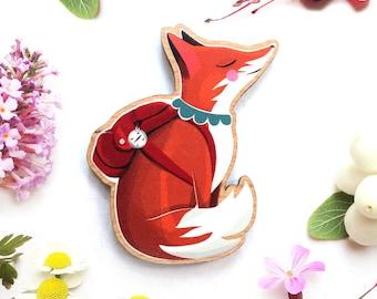 Travelling Fox Brooch