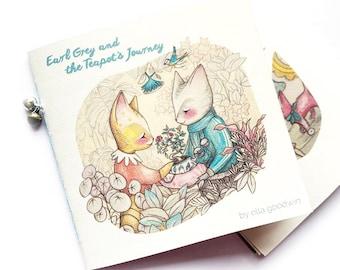 Earl Grey and the Teapot's Journey Mini Handmade book