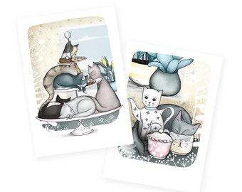 Cat cafe Cards