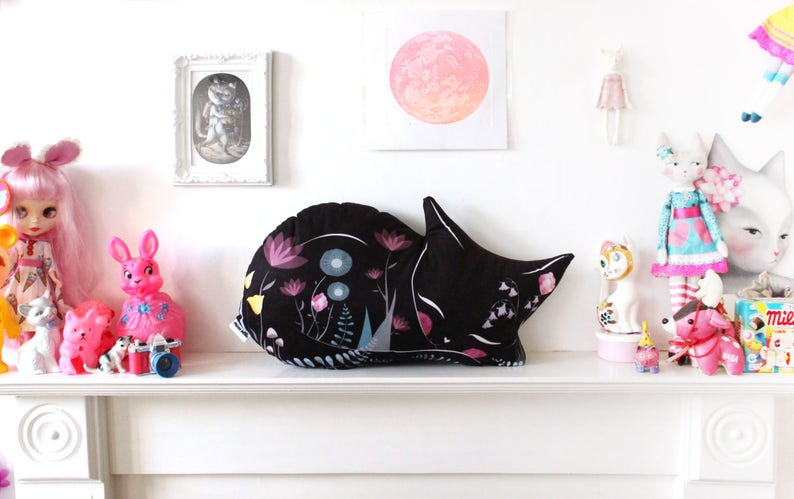 DIY KIT  VARIED colours  cat cushion softie plush floral  image 0