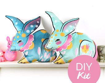 DIY KIT - Circus Bunny rabbit cushion - VARIED colours