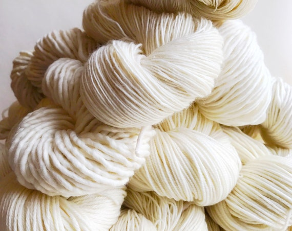 UNDYED yarn choose fingering, sock, dk, or bulky yarn
