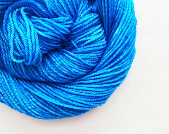 FRENCH BLUE hand dyed yarn