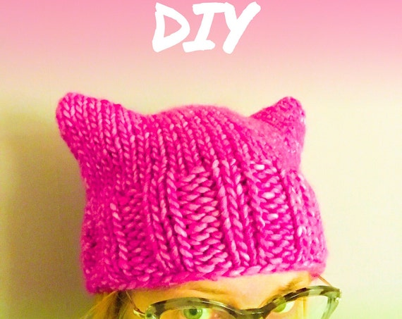 PUSSYHAT pink power yarn kit & pattern DIY
