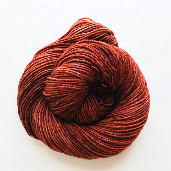 RUST hand dyed yarn