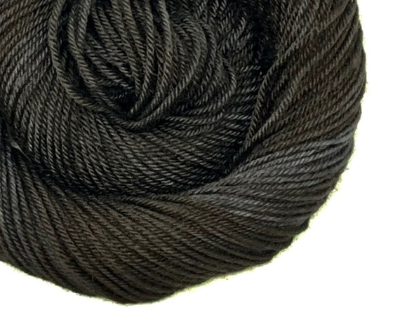 JET black hand dyed yarn