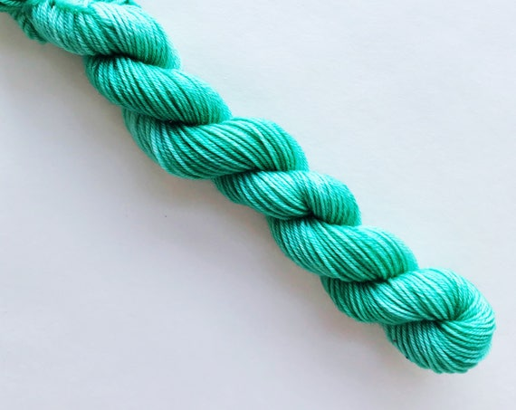 MINT hand dyed yarn mini skein