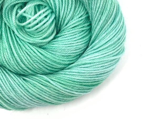 JADE green hand dyed yarn - choose your base.