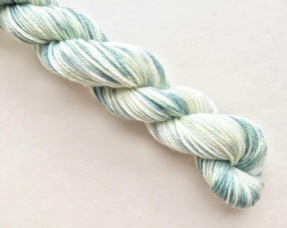 SEA CREAM hand dyed yarn mini skein