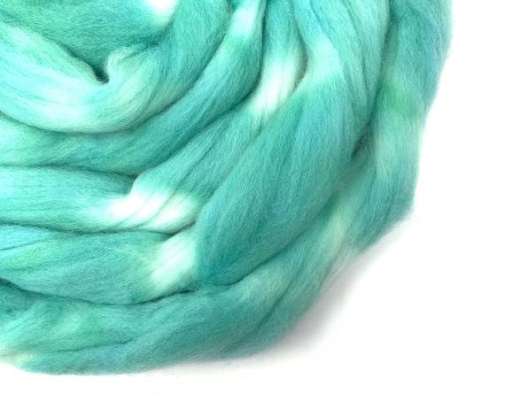 JADE hand dyed roving merino wool