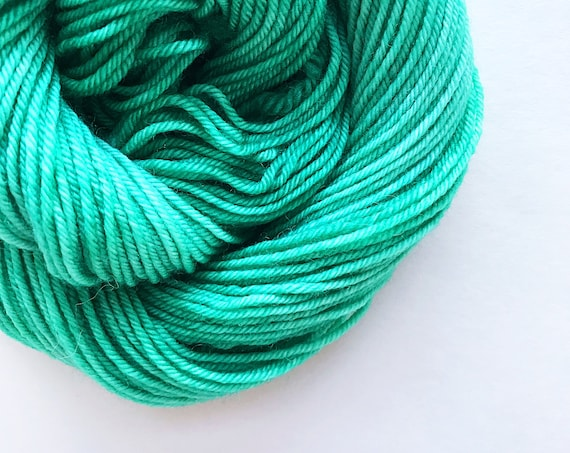 MINT green hand dyed yarn