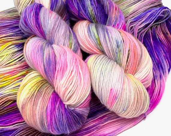 NEBULA hand dyed yarn fingering weight yarn