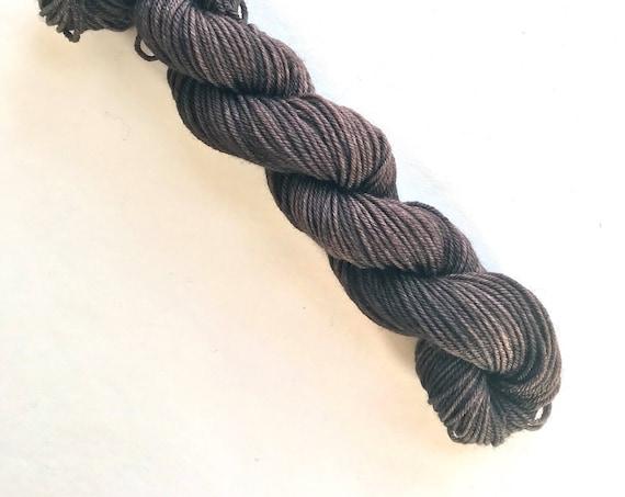 CHOCOLATE CAKE hand dyed yarn mini skein