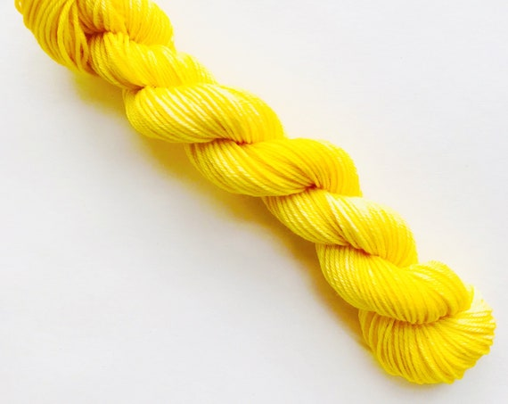 BUTTER hand dyed yarn mini skein