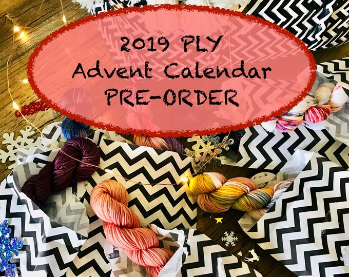 Featured listing image: Mini Skein Yarn Advent Calendar 2109 - 25 Surprise Mini Skeins - PRE-ORDER Now!