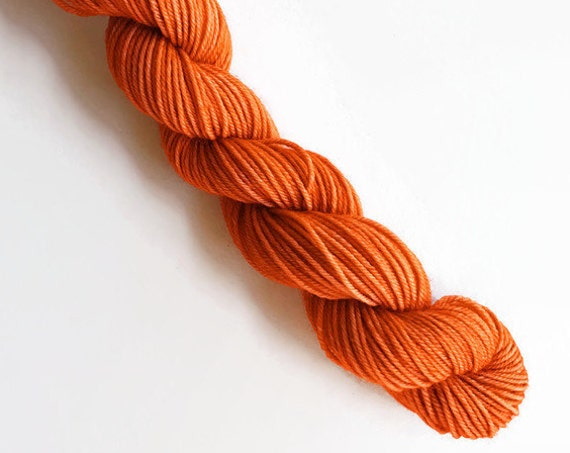 PUMPKIN SPICE hand dyed yarn mini skein