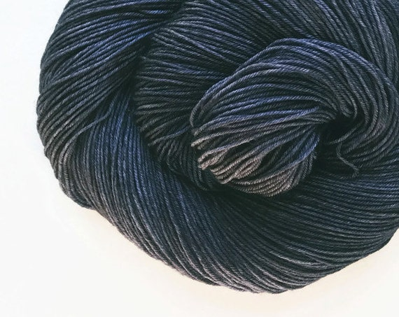 CHARCOAL hand dyed yarn