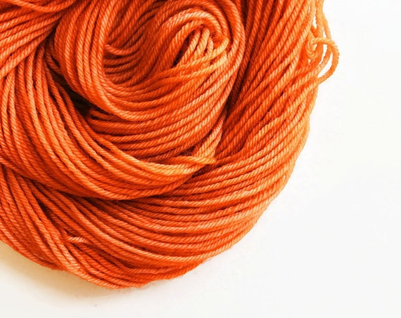 BURNT ORANGE hand dyed yarn