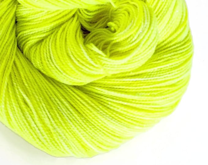 Featured listing image: VOLT yellow hand dyed yarn