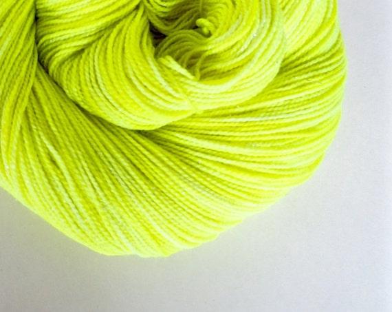 VOLT yellow hand dyed yarn