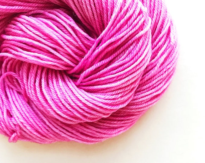 Featured listing image: PEONY pink hand dyed yarn