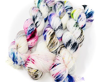 STREET GRAFFITI - a Special Summer Colorway - choose your favorite base. limited edition Indie Hand Dyed Speckle Yarn