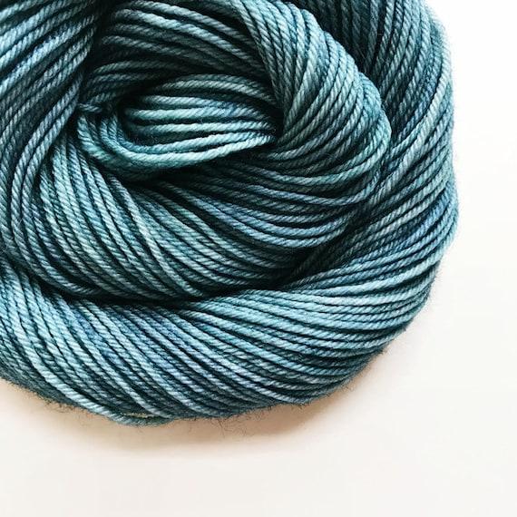 SLATE hand dyed yarn