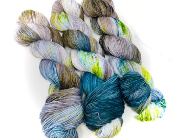 GREEN EARTH - a Special Summer Colorway - choose your favorite base. limited edition Indie Hand Dyed Speckle Yarn