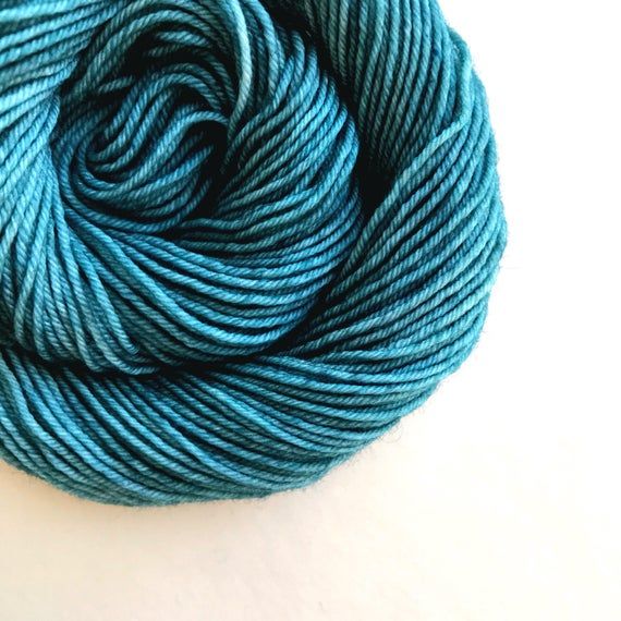 TEAL hand dyed yarn