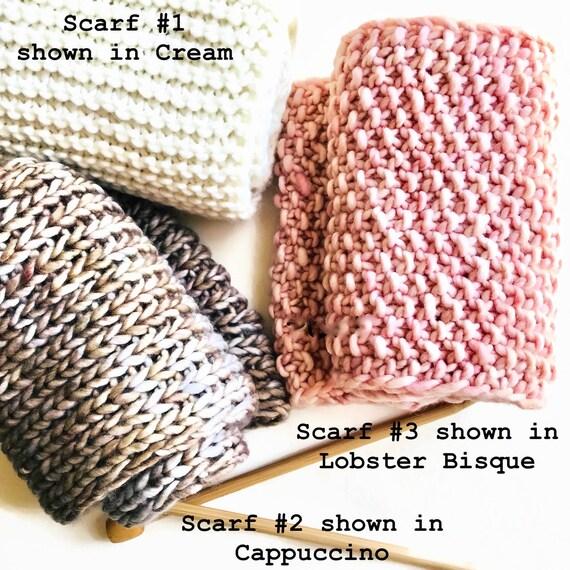 2 stricken Kit mit Muster einfach 1 x 1 Rippe Stich Schal   Etsy