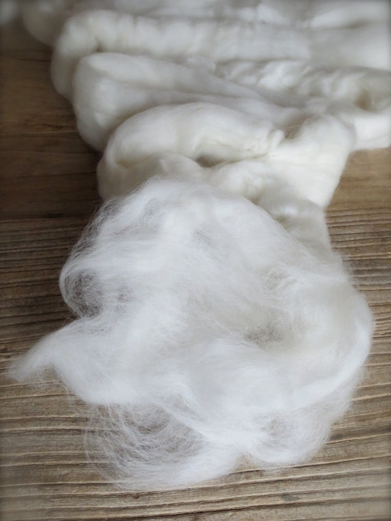 merino wool roving undyed natural ecru australian merino 64s top - 16 ounces