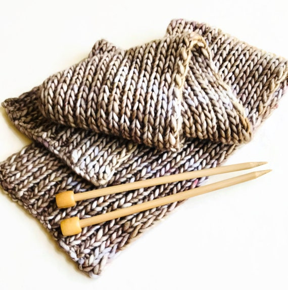 Scarf #2 Knitting Kit with Pattern - Great quick gift! Complete Kit!