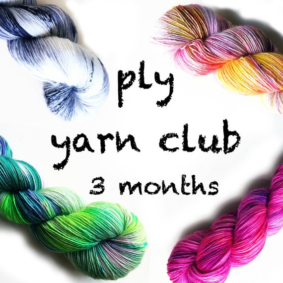 Hand Dyed Yarn Club 3 month membership. Customizable PLY Yarn Club!