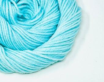 ROBIN'S EGG hand dyed yarn fingering sock dk bulky yarn super wash merino wool yarn single or ply. choose your base. pale blue-green yarn