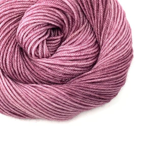 MAUVELOUS Mauve hand dyed yarn