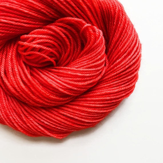 POPPY red hand dyed yarn