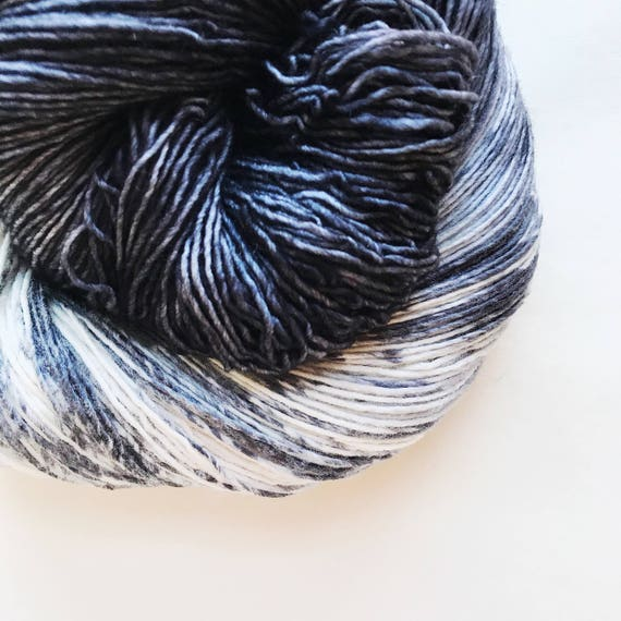DOMINO hand dyed yarn. speckle and semi-solid duet