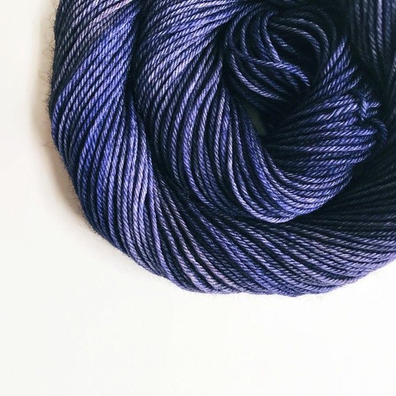 NAVY hand dyed yarn