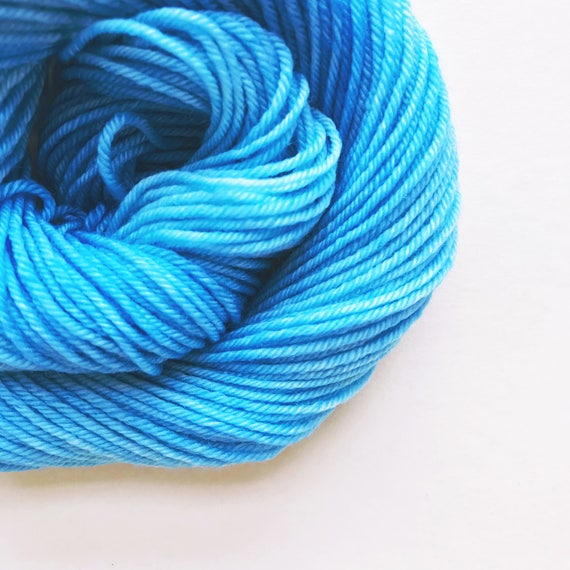 CERULEAN BLUE hand dyed yarn