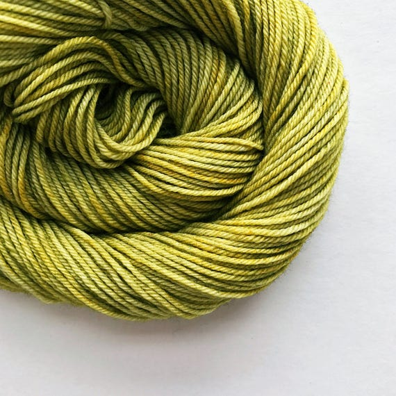 GREEN TEA hand dyed yarn