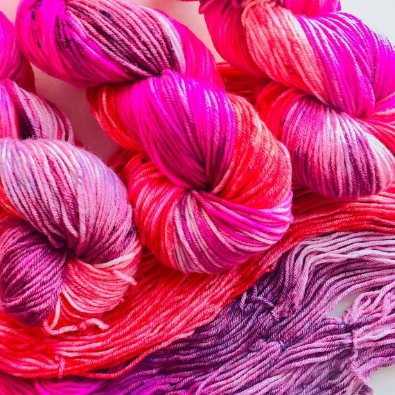 LYPSTYX hand dyed DK weight yarn