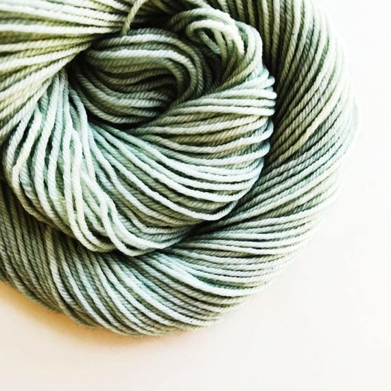 VERDIGRIS hand dyed yarn mini skein