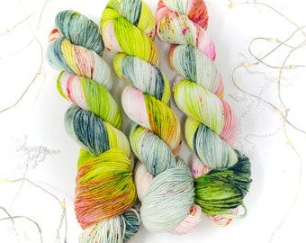 BROOK TROUT - a Special Summer Colorway - choose your favorite base. limited edition Indie Hand Dyed Speckle Yarn