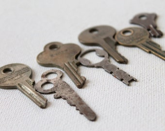 7 Unique Old Keys, no. 6  - perfect for assemblage, jewelry, scrapbooks, art and other crafts