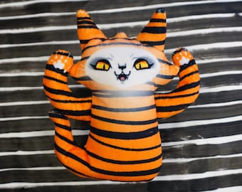 Ghost Cat Plush Toy - Spooky cute kitty doll - Comes with free Ghost Cat postcard - Tiger