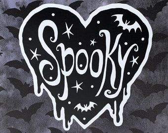 Decal - Spooky - Permanent Outdoor Decal - Durable Vinyl sticker for your car, home, laptop ANYWHERE
