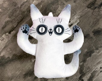 Ghost Cat Plush Toy - Spooky Ghost - Comes with a cute postcard - Super soft plush doll - Cartoon ghost doll - halloween toy BLPPLSH60205