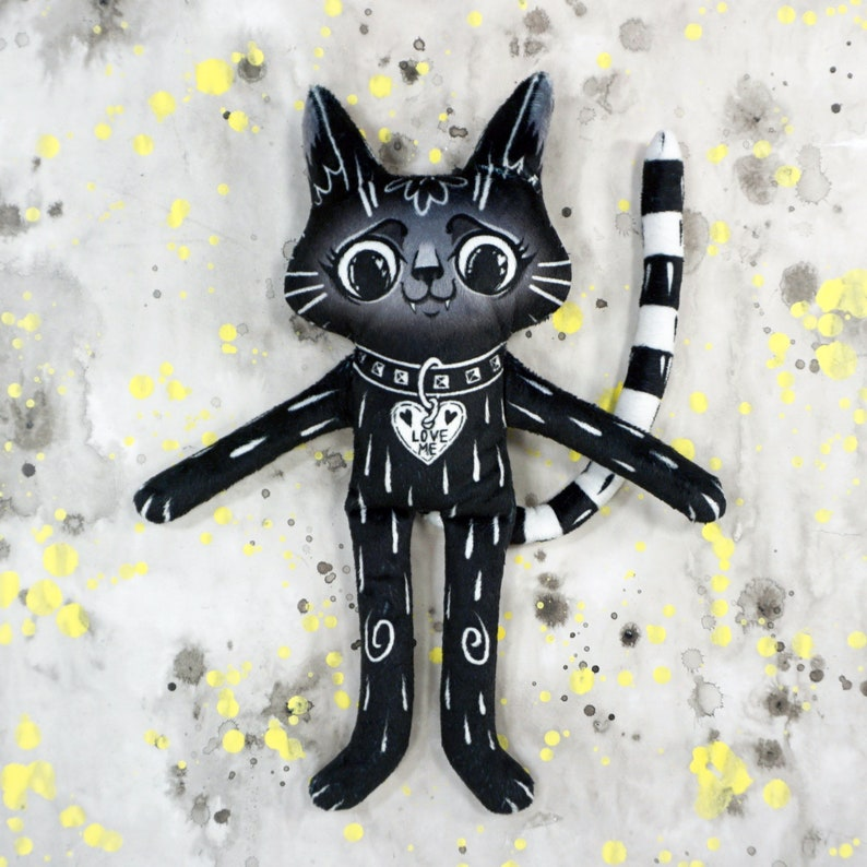 Black Cat BFF  Best friend cat doll made from super soft image 0