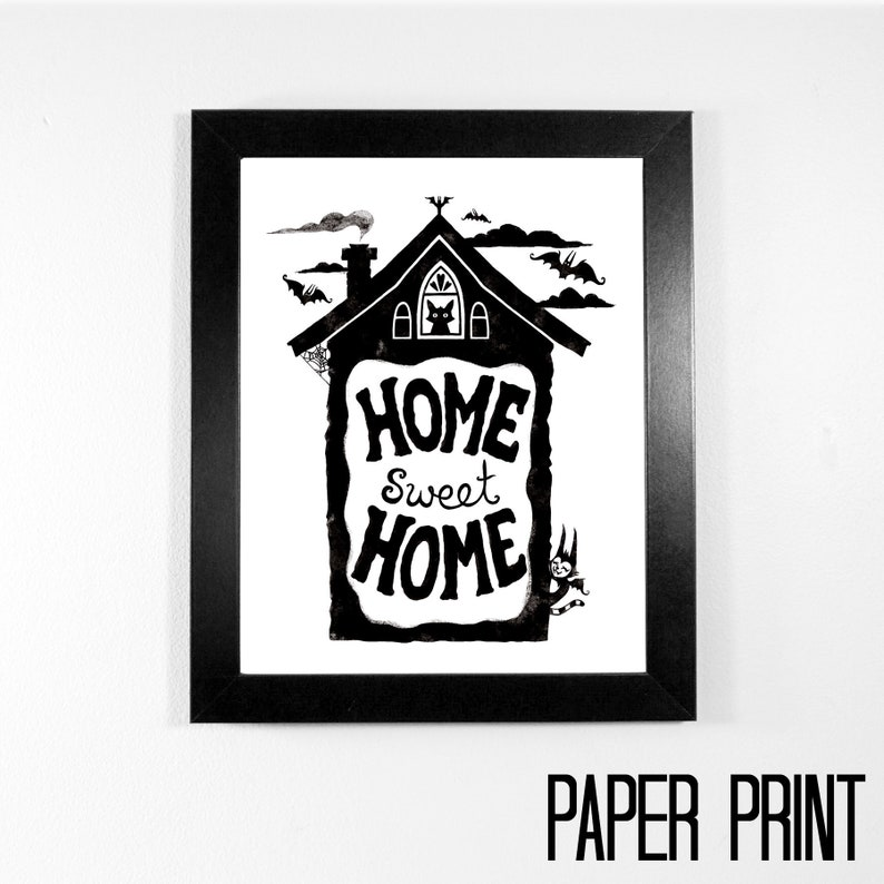 Art Print  Home Sweet Home  8 x 10 on matte paper  image 0